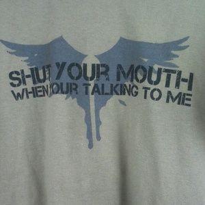 Gildan Adult Graphic T Shirt Vigilant Shield Sz L